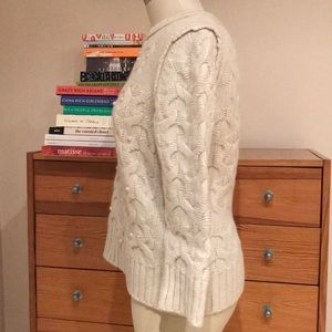 Ann Taylor Sweaters - Ann Taylor Ivory Wool Rabbit Hair Sweater